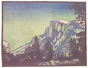 William S. Rice - Night - Yosemite, 1920