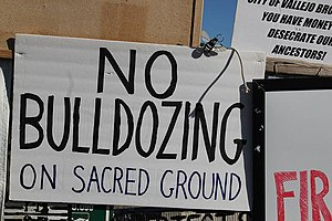 Recognition of Native American sacred sites in the United States -  Protest at Glen Cove sacred burial site