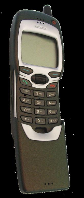 Nokia 7110 - A Nokia 7110 opened to expose its keypad
