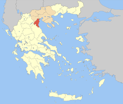 Pieria within Greece