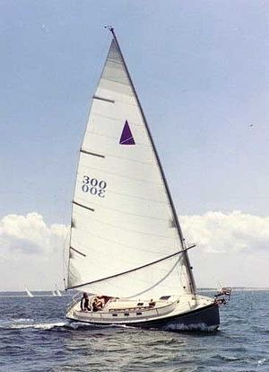 A Nonsuch 30' under sail