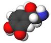 Noradrenalin 3-D molekylestruktur