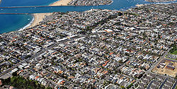 Aerial view of Corona del Mar