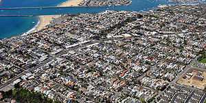 Corona del Mar, Newport Beach - Aerial view of Corona del Mar