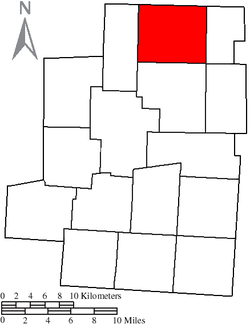 Location of North Bloomfield Township in Morrow County