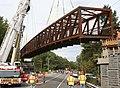Northampton, Manhan Trail Bridge Installation, September 26, 2010 (5029313067).jpg