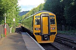 Northern Rail Class 158, 158752, Hebden Bridge railway station (geograph 4500239).jpg