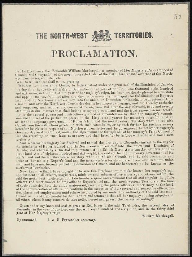 Northwest Territories Proclamation