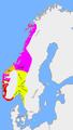 Carte: partage du royaume à a mort de Harald à la Belle Chevelure