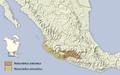 Notocitellus distribution map.png