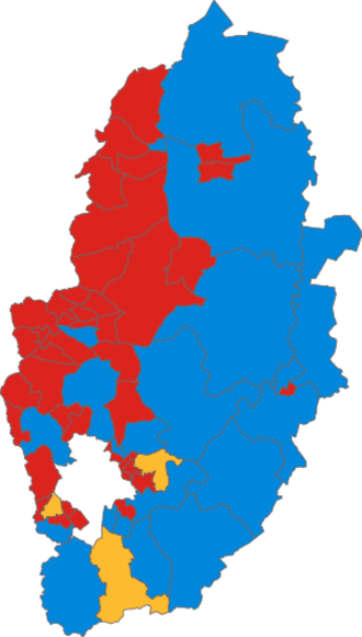 Nottinghamshire County Council elections - Image: Nottinghamshire County Council election, 2001