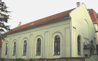 Protestantism in Serbia - Prayer House of Nazarene Christian Community in Novi Sad. Services are performed in Serbian language.