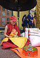 Nun making mandala offereings at Boudha.jpg