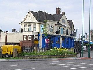 Green Man, Leytonstone Pub and road junction in Leytonstone, London