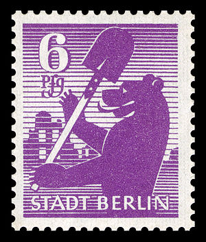 Deutsche Bundespost Berlin - Russian occupation stamp for Berlin, 1945, Scott 11N2