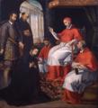 O Papa Paulo III recebe São Francisco Xavier (c. 1619) - André Reinoso.png