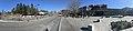 Oasen shopping mall (kjøpesenter, bydelssenter) in Folke Bernadottes vei, Fyllingsdalen, Bergen, Norway. Skyss bus station, main entrance, etc. Distorted panorama 2018-03-17 C.jpg