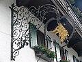 Oberammergau Wirtshausschild Hotel Wolf.jpg