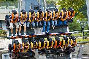 English: Rollercoaster at Alton Towers, Englan...