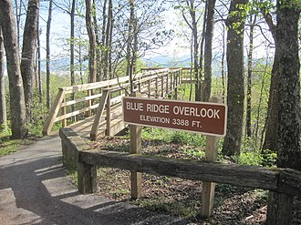 Black Rock Mountain State Park - Observation deck for the Blue Ridge overlook