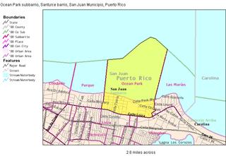 Ocean Park (Santurce) Subbarrio of Santurce in San Juan, Puerto Rico