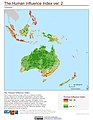 Oceania The Human Influence Index, version 2 (5457431967).jpg