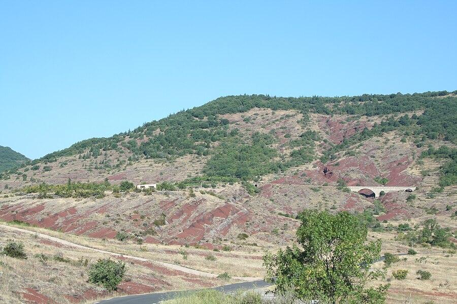 Octon (Hérault) - paysage des ruffes.