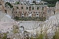 Odeon of Herodes Atticus, built in 161 AD on the south slope of the Acropolis of Athens in memory of his wife Annia Regilla, Athens, Greece (14003489992).jpg