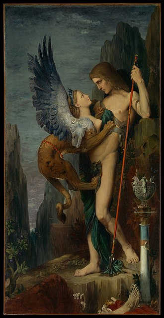 Gustave Moreau - Image: Oedipus and the Sphinx MET DP 14201 023