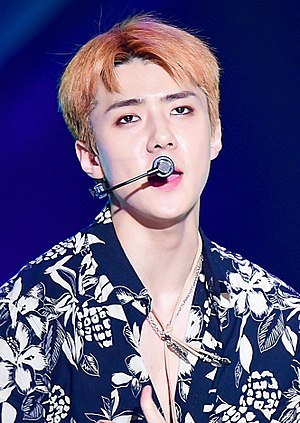 Oh Se-hun (entertainer) - Image: Oh Se hun at Show! Music Core on July 24, 2017 (4)