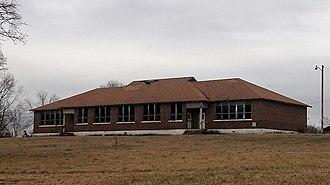 Okolona, Arkansas - An old school building in Okolona, January 2018