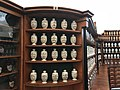 Old Prague pharmacy bottles in exposition History of pharmacies in Kuks Hospital in Kuks, Trutnov District.jpg