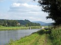 Old towpath of the Elbe in the Elbsandsteingebirge. In the background Bad Schandau. Sachsen, Germany. - panoramio (1).jpg