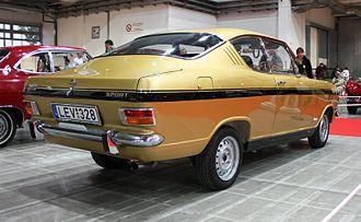 Opel Kadett B - Image: Oldtimer Show 2008 082 Opel Kadett B Gills Coupe (rear) cropped