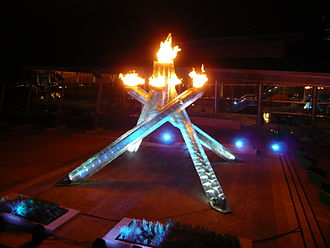 Vancouver Convention Centre - Olympic Cauldron at Jack Poole Plaza