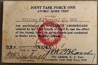 Operation Crossroads - Operation Crossroads ID Card