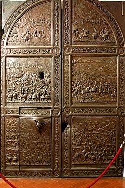 Original bronze door - Castel Nuovo - Naples - Italy 2015.JPG