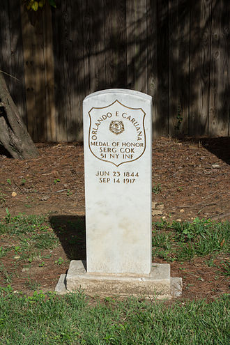 Emigration from Malta - Grave of Orlando Caruana, who fought in the American Civil War.