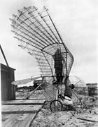 Ornithopter and creator George R. White at St. Augustine.jpg
