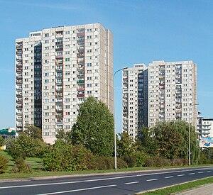 Rataje, Poznań - High-rise blocks on Osiedle Rusa