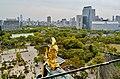 Osaka Osaka-jo Hauptturm Panoramablick 10.jpg