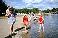 Ostankino pond, children and sunbathers, 1964.jpg