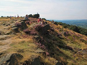 The Chevin - Viewpoint near the summit of Otley Chevin.