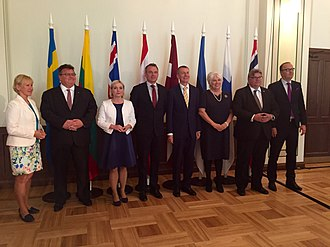Foreign ministers of the Nordic and Baltic countries in Riga, 2016 Pohjamaade ja Balti riikide valisministrite kohtumine Riias, 26.08.2016 (29162818421).jpg