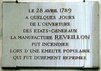 Jean-Baptiste Réveillon - Image: P1060945 Paris XI rue de Montreuil n°31 plaque n°1 rwk