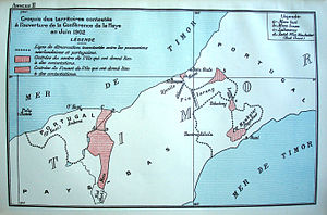 Bunak people - Map series referring to the PCA Award from 25 June 1914 belonging to the boundaries in the island of Timor.