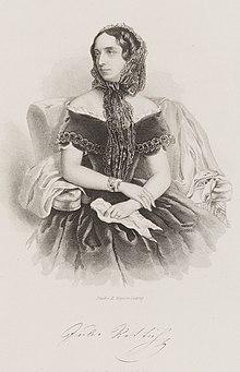 Julie Rettich, Kupferstich von August Weger (Quelle: Wikimedia)