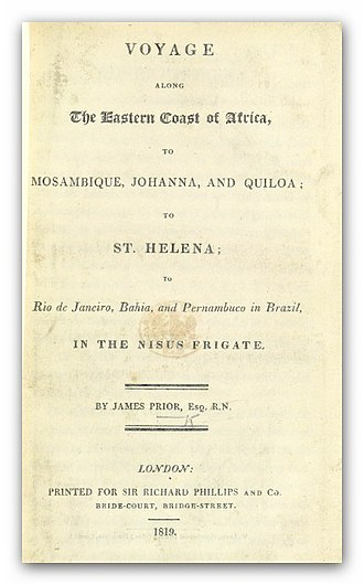 HMS Nisus (1810) - Image: PRIOR(1819) Voyage ... to St. Helena, to Rio de Janeiro, Bahia, and Pernambuco in Brazil, in the NISUS Frigate
