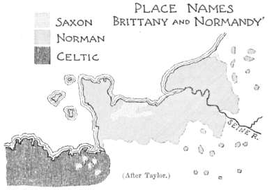 PSM V51 D318 Place names of brittany and normandy.png