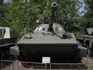 PT-76 amphibious light tanks at the Muzeum Polskiej Techniki Wojskowej in Warsaw (1).jpg